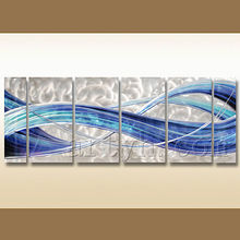 Newest wall decor panel modern abstract aluminium painting on wall