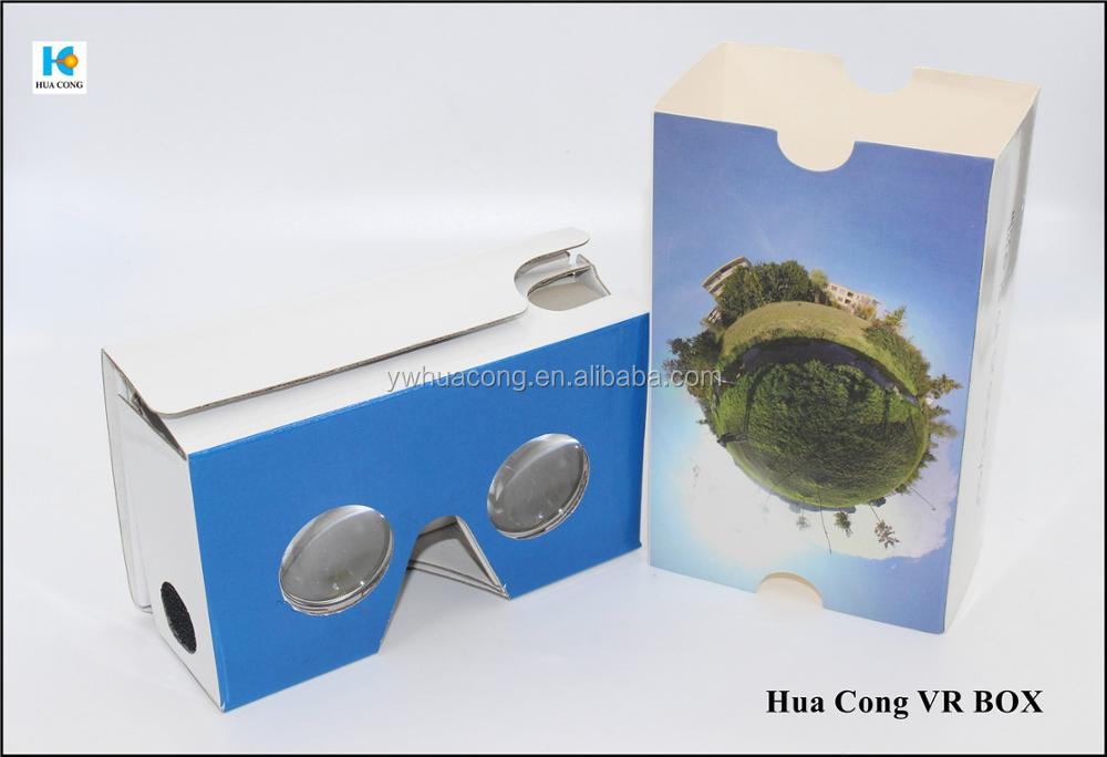 new item 3d virtual reality video glasses with custom print and design