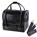 Pro Makeup Train Storage Bag Case Jewelry Box Cosmetic Artist Organizer Black