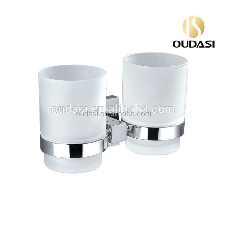 Bathroom Fitting Tumbler Holder With Glass acrylic towel ring