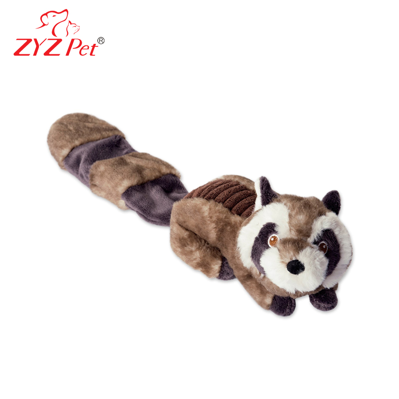 Squeaky pet toy plush beaver dog toy for chew and tug