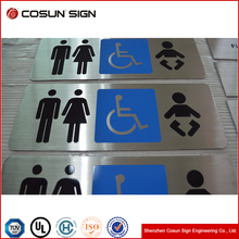 COSUN Custom Metal Door Signs Stainless Steel Door Signages