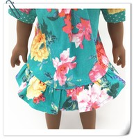 New Design Summer 100% Cotton doll Set Baby Clothes
