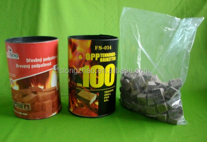 Eco BBQ Fire Starter/fire Lighter 100PCS/TUBE, burning time 10minutes