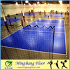 Low price outdoor easy to install PP material volleyball court floor tiles