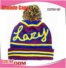 2015 Hot Sell Custom Designs Newest Fashion Knitted Beanie Hat &Winter Cap