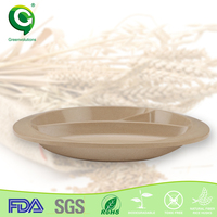 natural SGS passed rattan rose gold charger plates