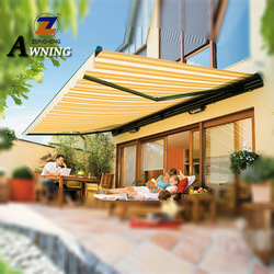 2018 Full Cassette Balcony Motorized Roof Waterproof Outdoor Sun Shade Rain Electric Aluminum Window Terrace Retractable Awnings