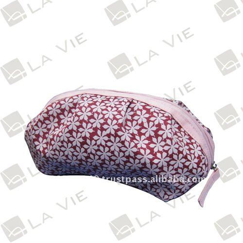 art. HB-LV1076 High Quality Pink 600D Polyester Cosmetic Bag