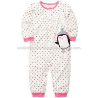 BABY GIRLS PRINTED ROMPER WITH APPLIQUE EMBROIDERY
