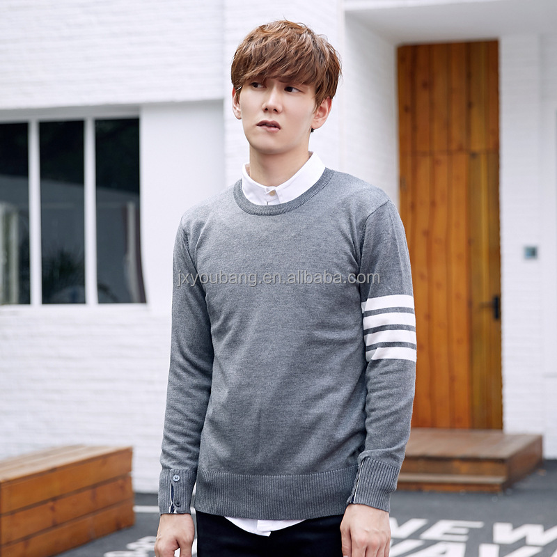 Hot sale super soft crew neck long sleeve winter outdoor acrylic sweater