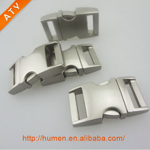 Quick side release metal buckle for dog collars