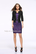 Europe new fashionelegant various patterns tight long sleeve evening dress