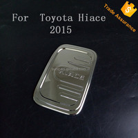 Mini bus 2016 hiace fule gas cover tank cover chrome for toyota hiace 2015