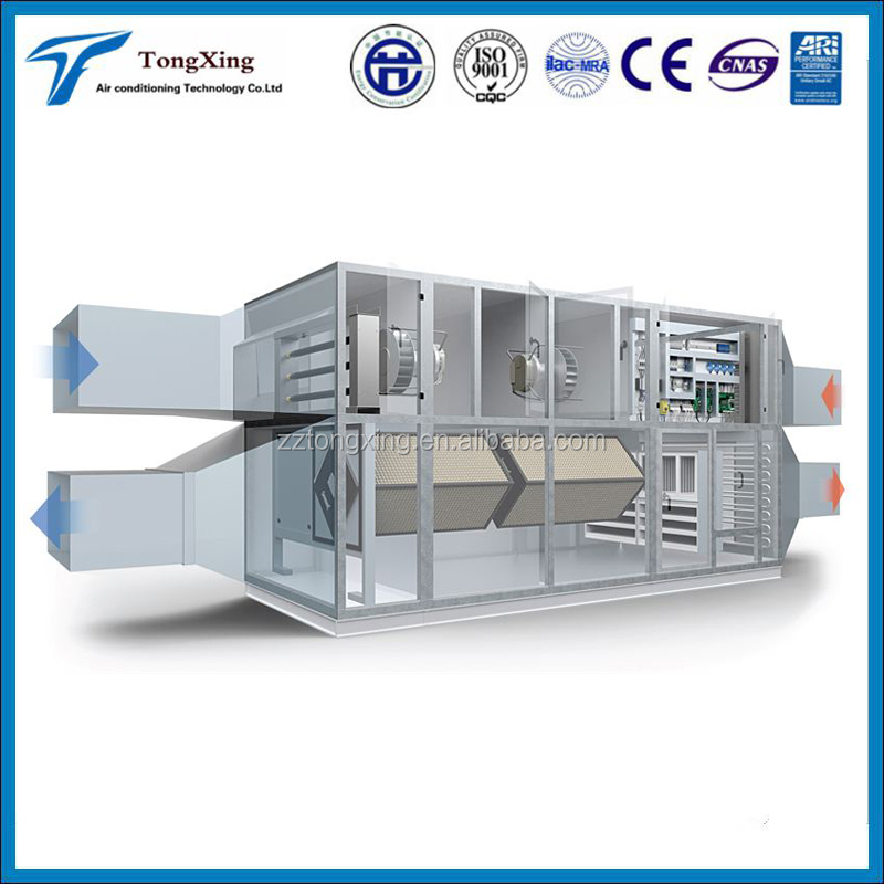 office budiling high floor height AHU ventilation system