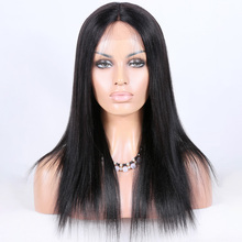 wholesale 100% virgin Chinese hair full lace wigs yaki human hair wig