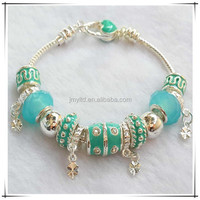 Colorful Glass Beads Snake Chain Charms for Snake Chain Bracelet