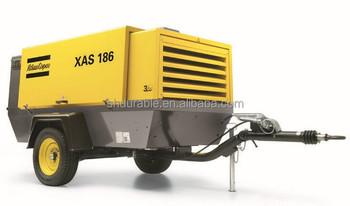 Atlas Copco portable air compressors for sale in Stock
