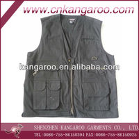 Cotton/Poly multi pockets tactical vest; 18 pockets outdoor waistvest; army combat tactical vest