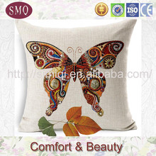 butterfly design inflatable beach adult floor cushions yellow cushion covers linen pillow