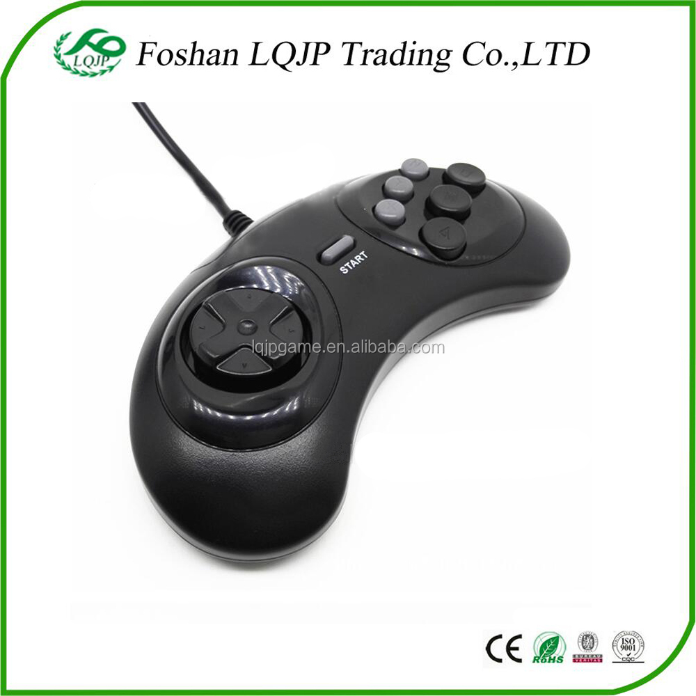 LQJP Controller for Sega Genesis 2 New usb Game Controller for Sega Genesis 2 Black controller