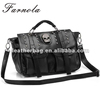 Classic punk bags black PU leather skull handbags wholesale