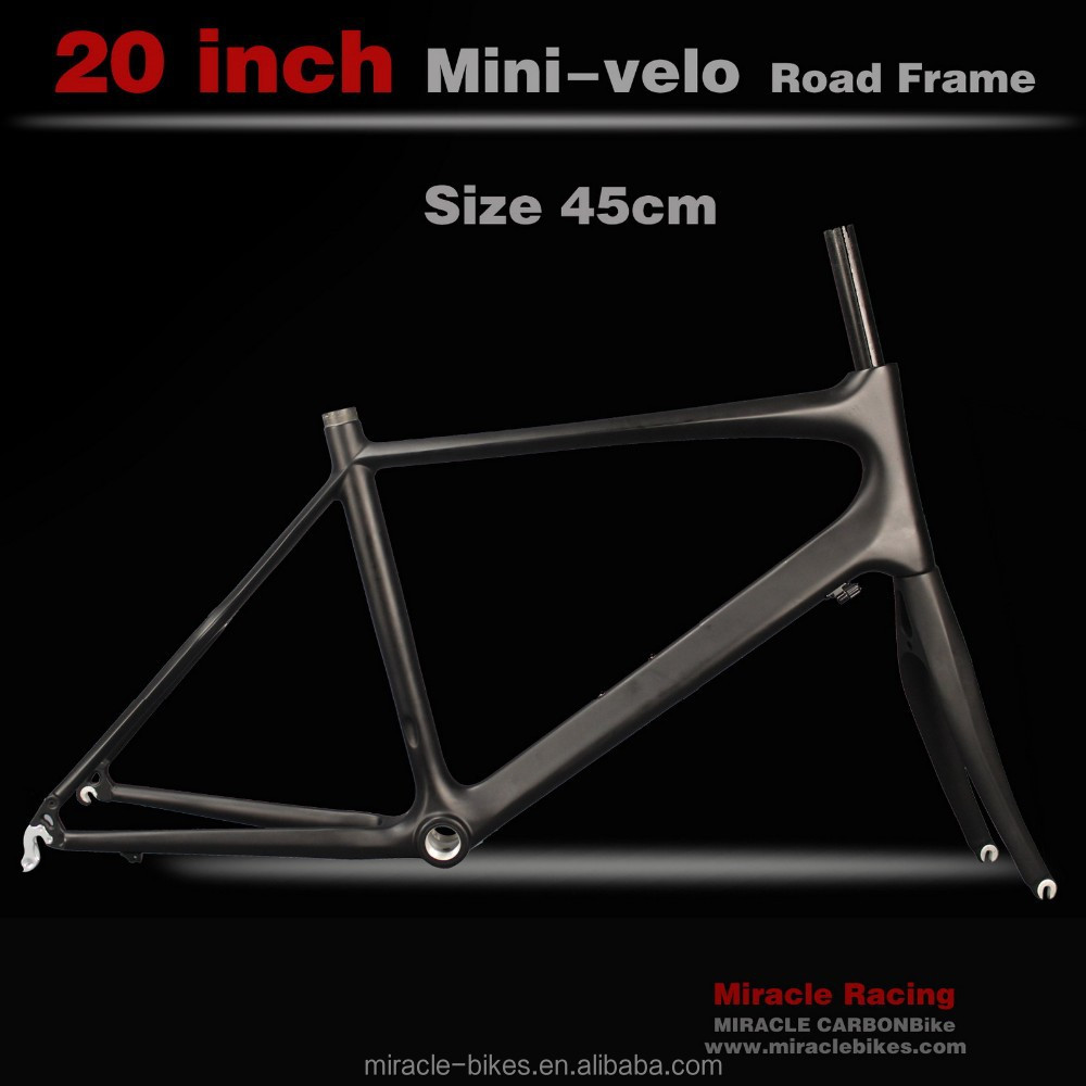 Chinese desgin Carbon Bike 20 inch Minivelo Frame, 451mm Wheels Mini Carbon Frame Road for sale