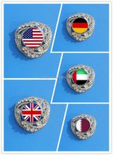 custom shape lapel pin, national day bedges for UAE/ USA/ Oman/UK/Germany