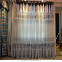 burnt-out printed china curtain
