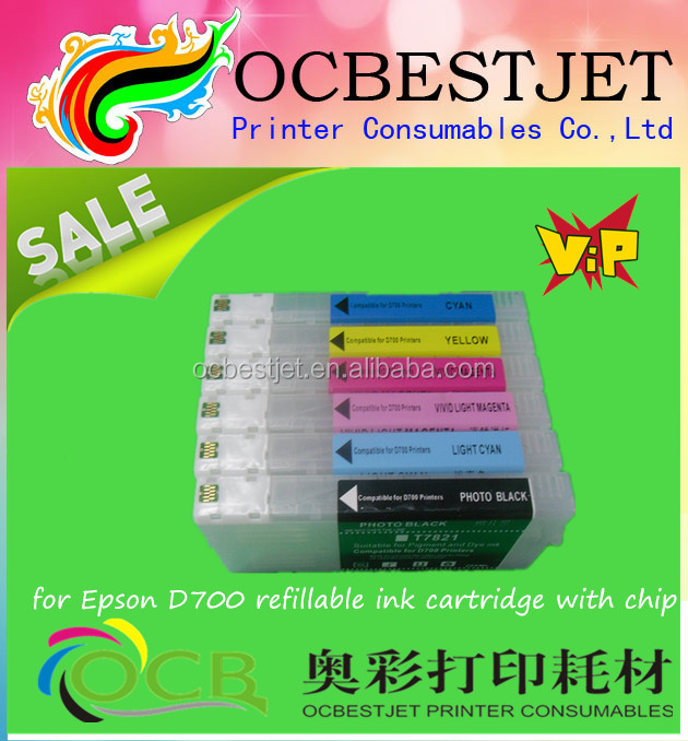 Ocbestjet Hot Newest product !!! for epson D700 refillable ink cartridge