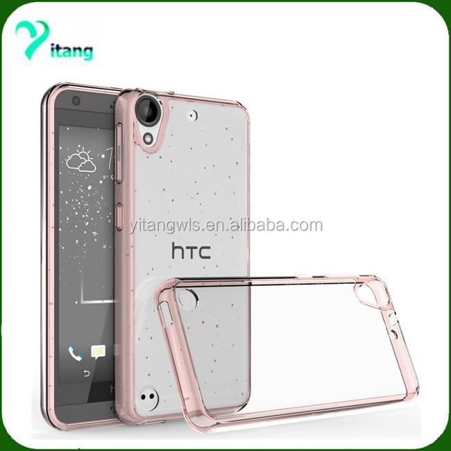 For HTC desire 530 High bumper anti-shotproof protector cover TPU+transparent acrylic case for HTC 630 HTC 825
