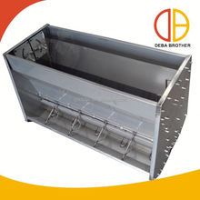 Poultry Galvanized Feeding Trough Feeders For Piglet
