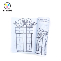 Fashion design children drawing color filling book