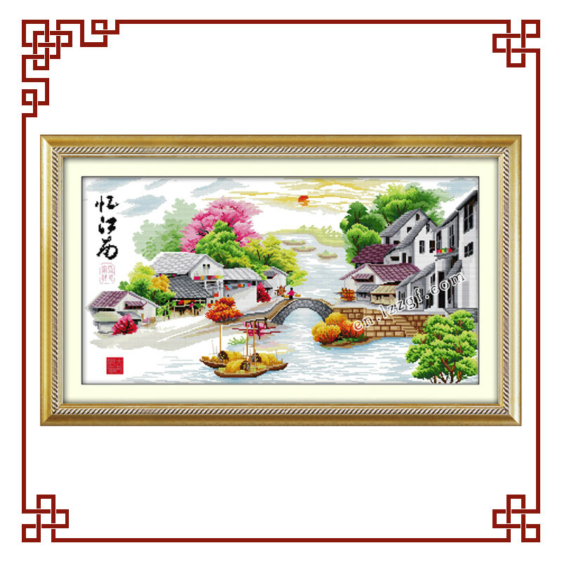 NKF Water village in dream cross stitch patterns