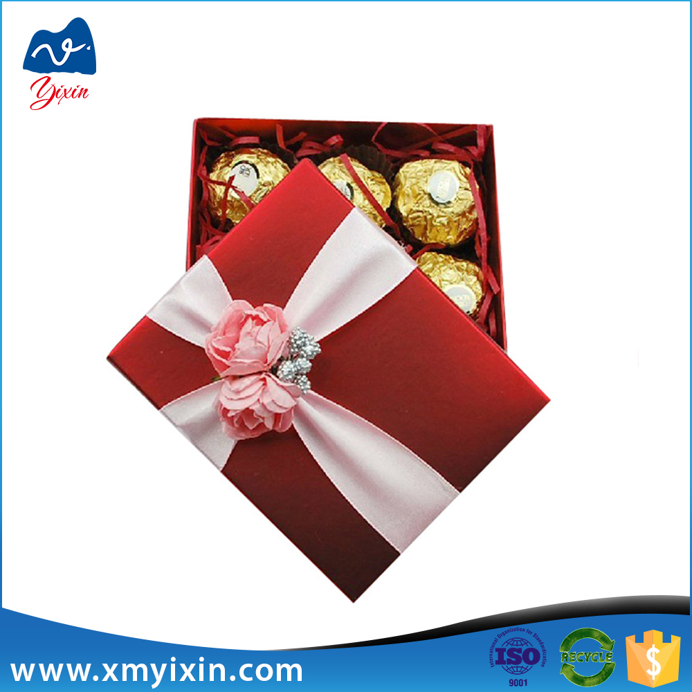 Paper 9x9 gift chocolate packaging box design templates box