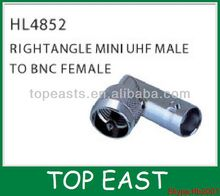 Right Angle Mini UHF Male To BNC Female HL4852