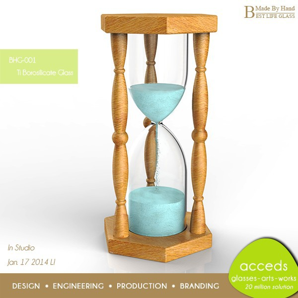 Custom Eco Friendly 60 Minutes Hourglass Glass Sand Timer