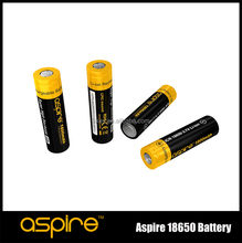 Top 1800mah 40Amp capacity rechargable Aspire 18650 battery for Vaporizer E Cigarette