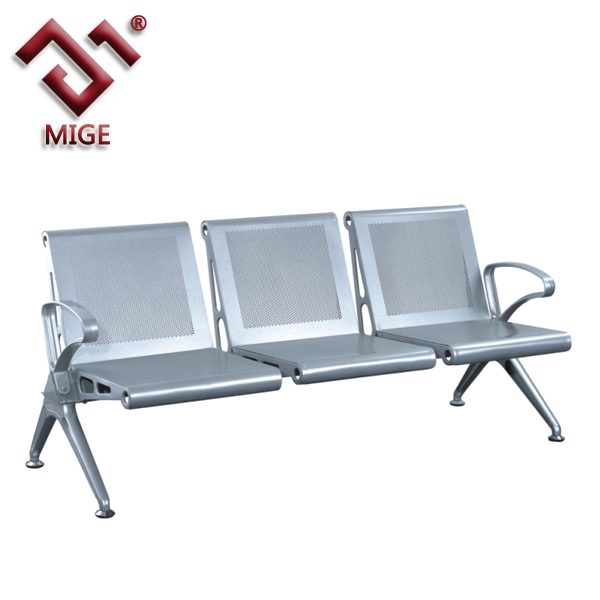 High quality chrome steel cheap waiting room chairs