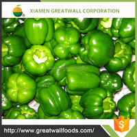 BRC frozen fresh green peppers
