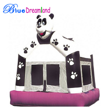 attractive Hand Printing inflatable bouncy castle house for kids play