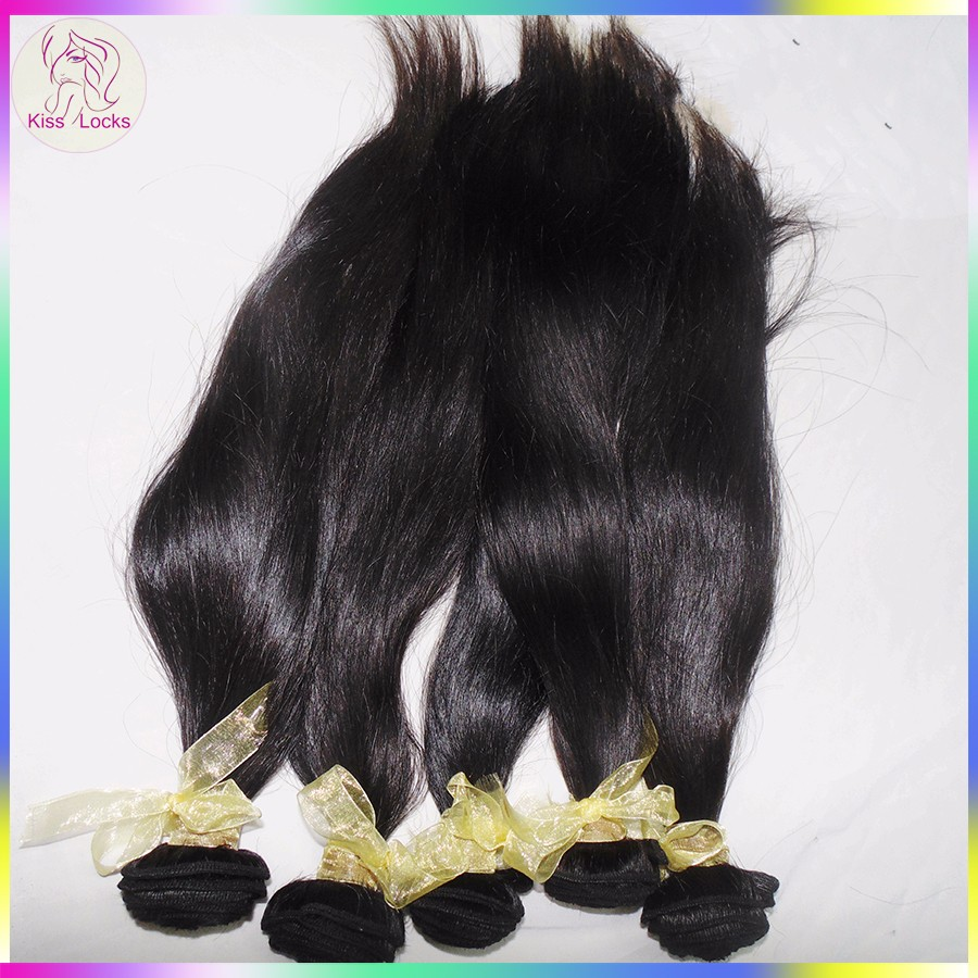 Top 10A Full Cuticle Double Wefts Laotian Authentic Human Hair Natural Straight Charming Style & Various Sizes