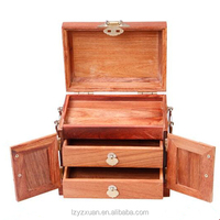 High quality cheap solid wood exquisite carving skill jewelry box for wholesale
