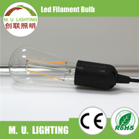 2015 newest bulbs E27 A60 st64 E14/E27 2W led filament light, 2000K-6500K filament led bulb