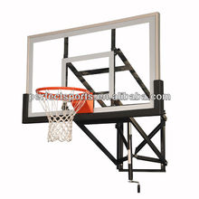 Indoor / Outdoor Adjustable Height Wall Mounted Basketball Hoop Goal System