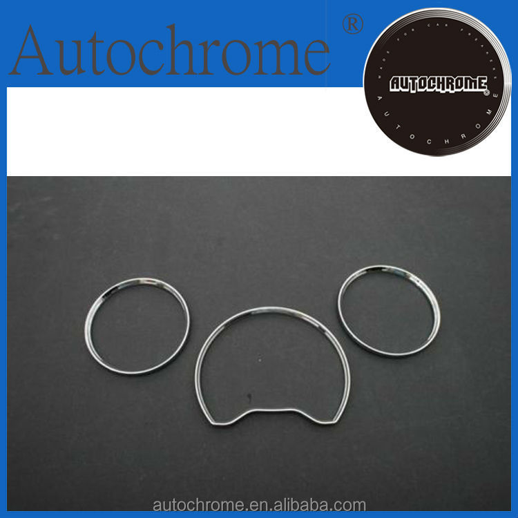 Decorative car accessory accent, chrome dash board gauge ring set for Mercedes Benz W202 96-00