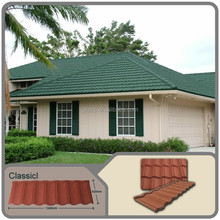 Natural stone ship coated steel roofing tiles
