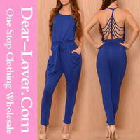 Royal Blue No Strings Attached jumpsuit for girls