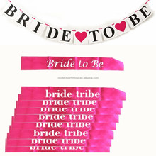 bride to be banner 9pck sashes bridal shower gift bachelorette party supply