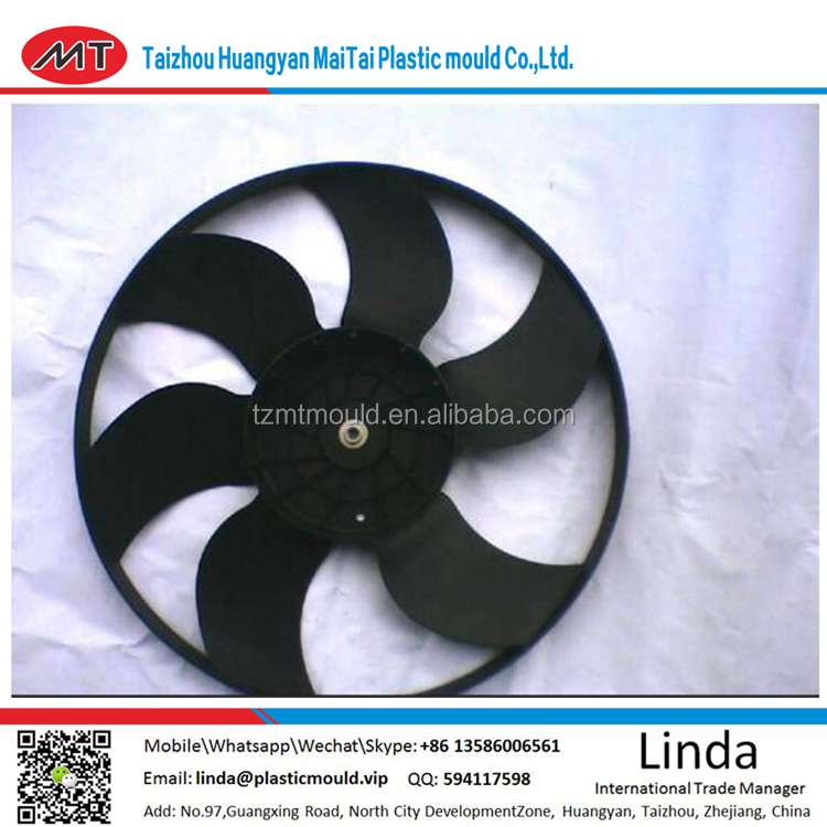 Credit Guarantee New Type Plastic Fan Blade Mould/mold/new product Plastic injection fan leaf parts tooling TAIZHOU HUANGYAN